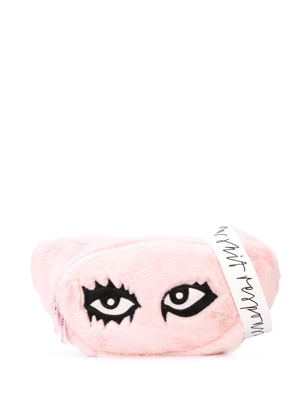 SIGNATURE EYES FANNY PACK PINK FUR
