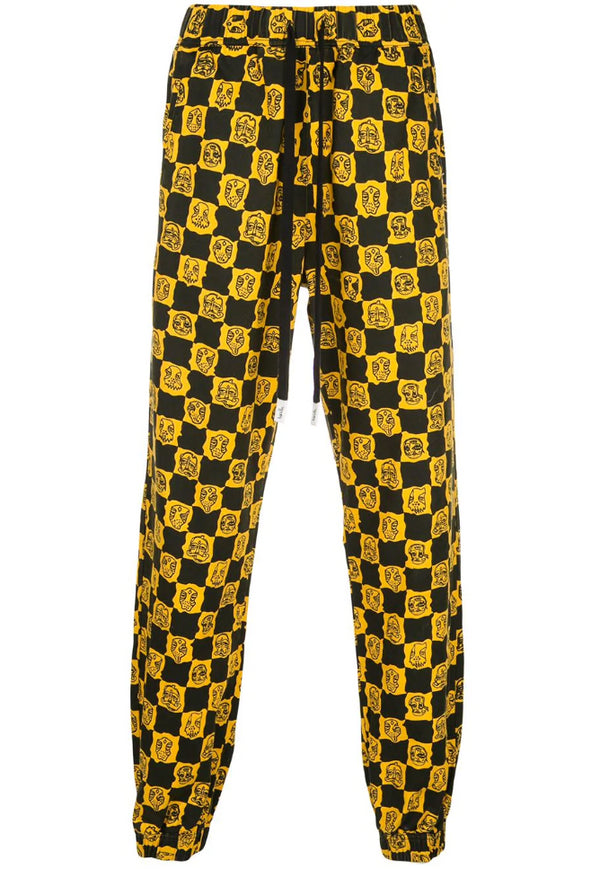 BLURRY WOVEN JOGGER YELLOW