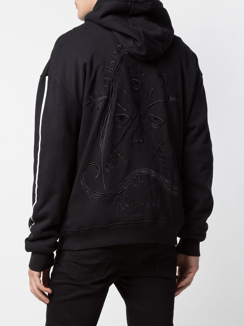OFTEN IMITATED DROP SHOULDER HOODIE BLACK