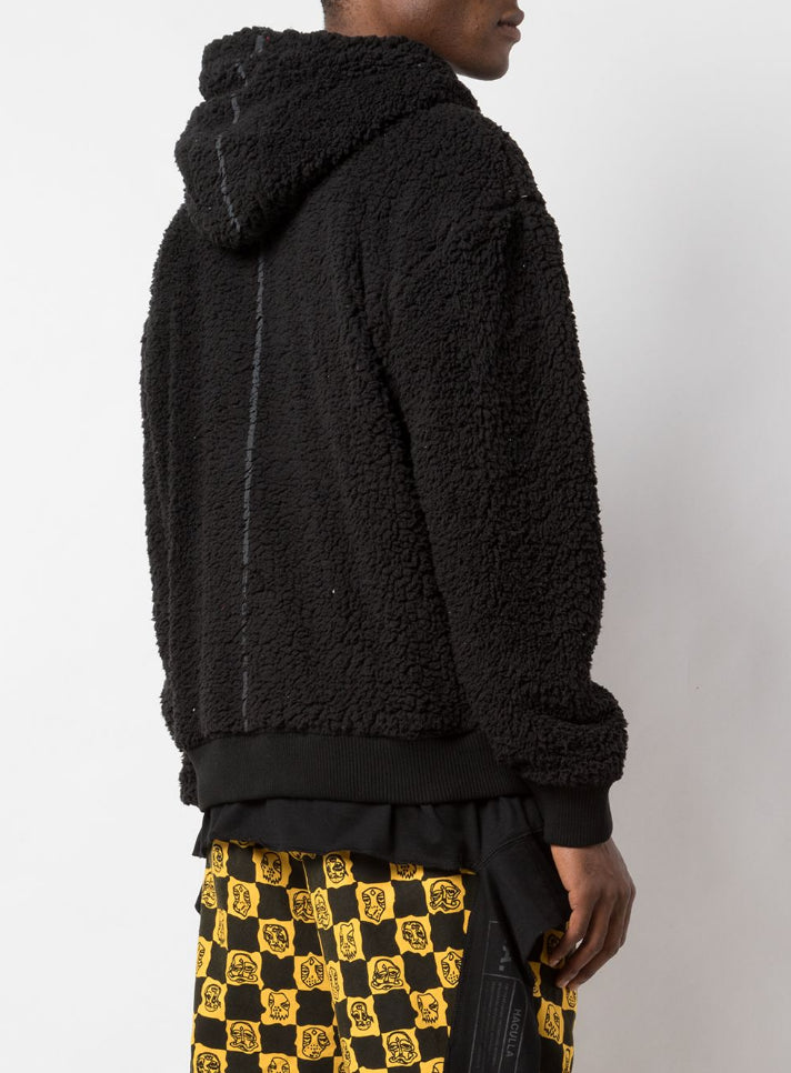 MASKED DROP SHOULDER HOODIE BLACK