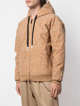 JETTED CORK DROP SHOULDER HOODIE CORK WITH PAINT