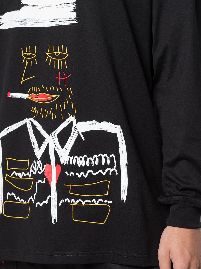 NO SMOKIN' L/S TEE BLACK