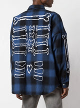 MASKED PLAD SHIRT BLUE