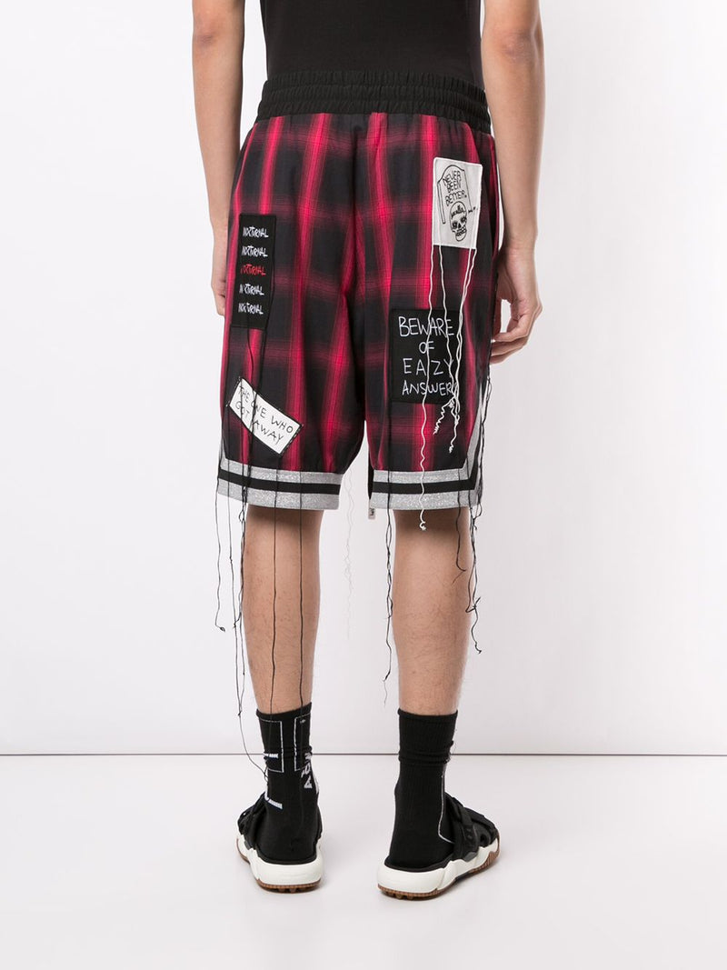 NEVER BEEN BETTER SHORTS INFRARED PLAID
