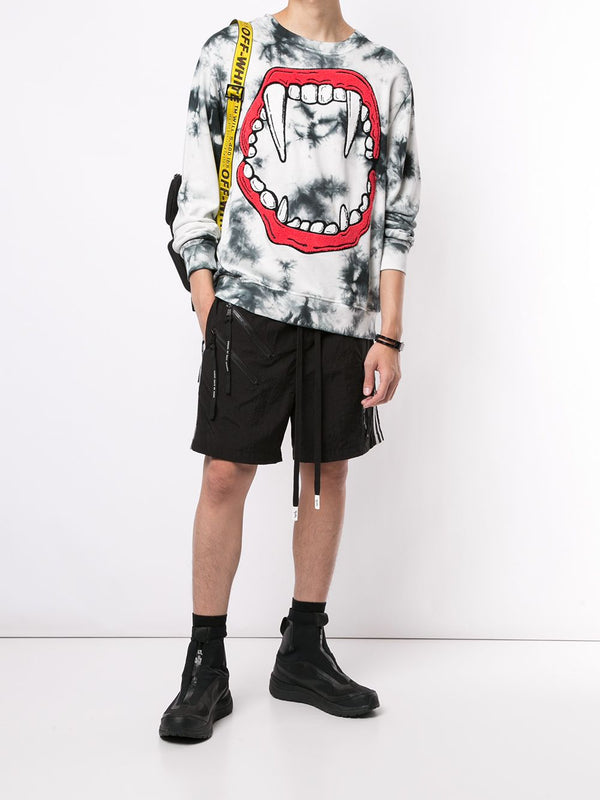 FANGS CREWNECK OFF WHITE TIE DYE