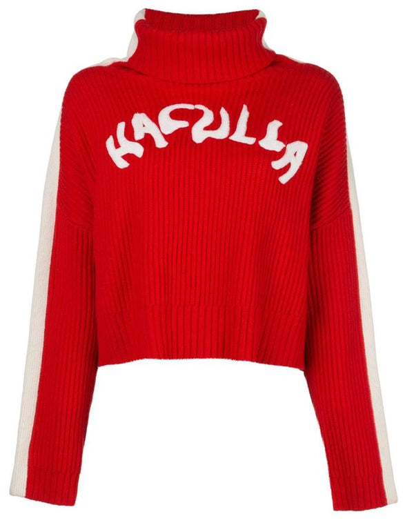 NOUVEAU SWEATER RED/ WHITE