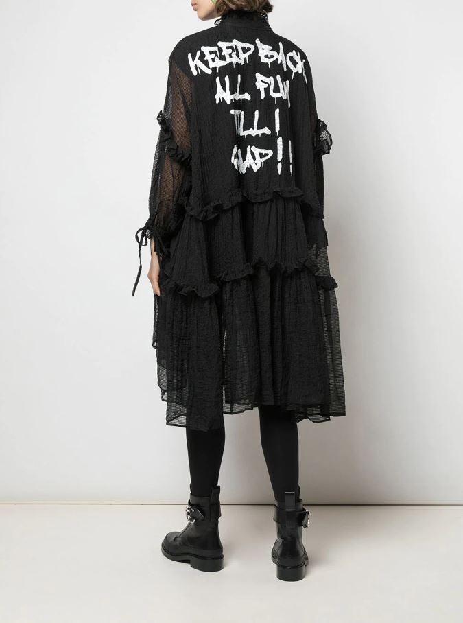 KEEP BACK OVERSIZED DRESS BLACK