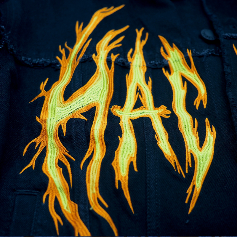 HAC ON FIRE JACKET BLACK DENIM