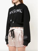 CROPPED HOODED SWEATSHIRT