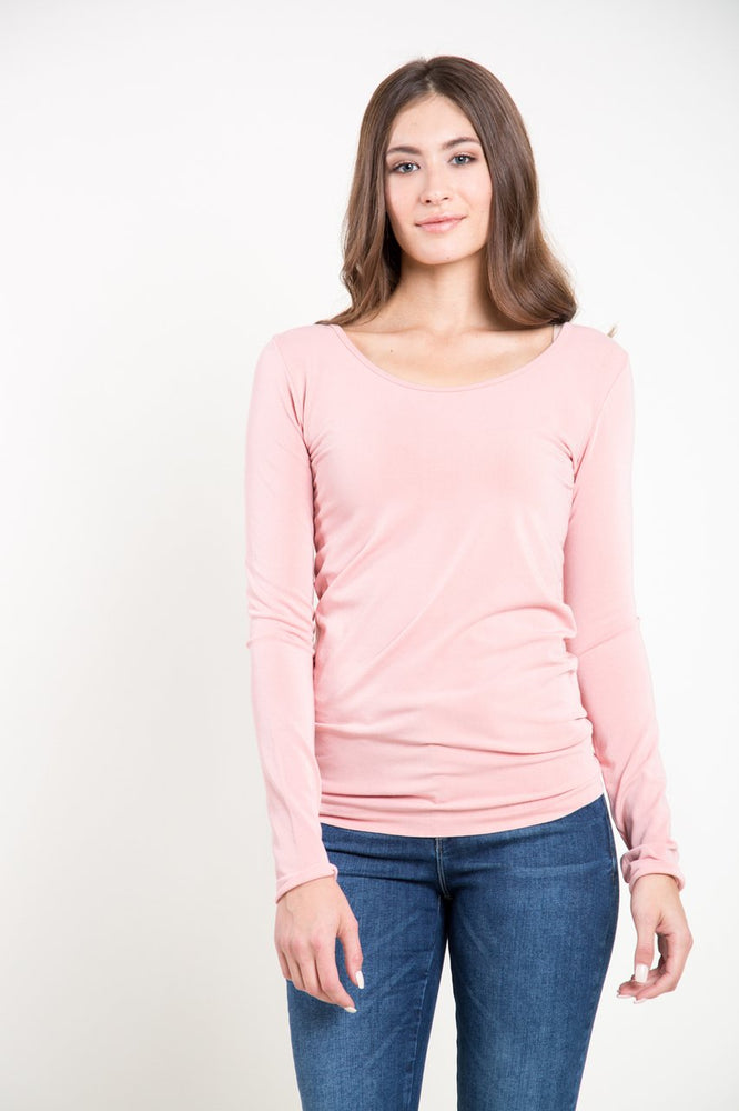 Bamboo Long Sleeve Scoop Neck