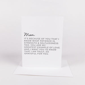 Letter to Family Card