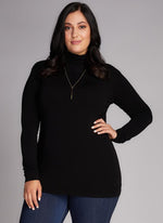 Bamboo Curvy Turtleneck