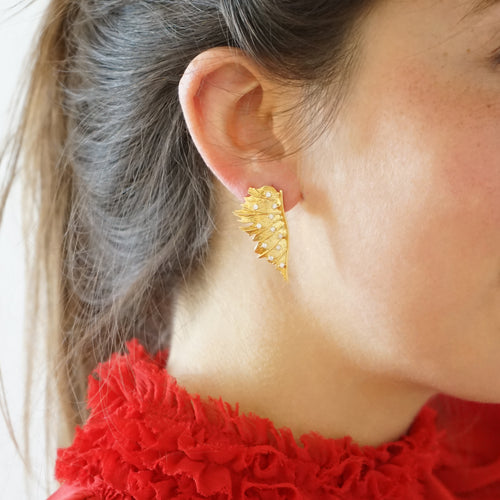 Half Leaf Earrings