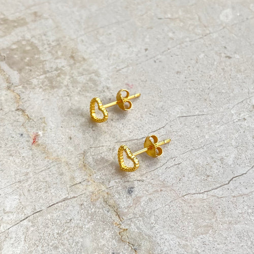 Stud Earrings Heart