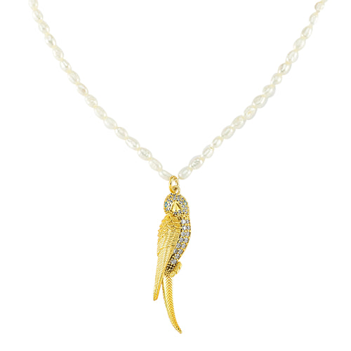 Grand Parrot Pearl Necklace
