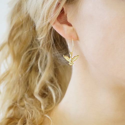 Dainty Phoenix Hoop Earrings