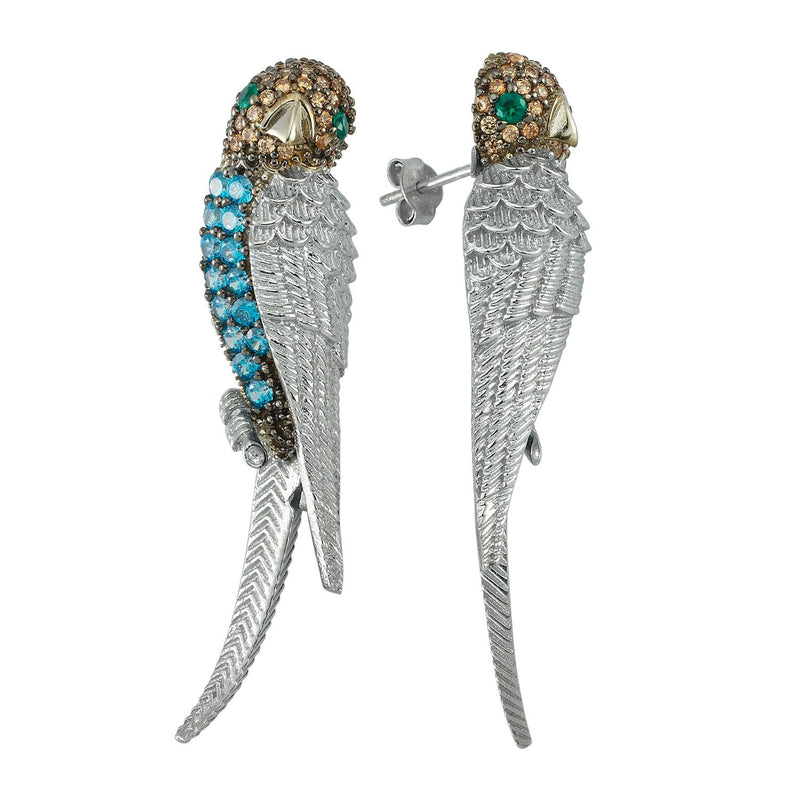 Grand Parrot Statement Earrings