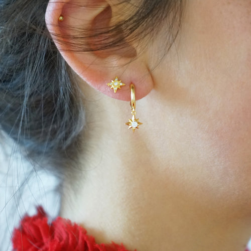 Hoop Earrings Star Babylon