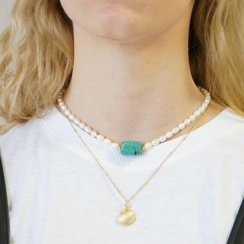 Turquoise Pearl Necklace Mia