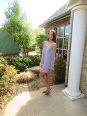 PROVENCE Textured Cold Shoulder Gauze Tunic Dress