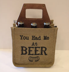 MONA B Canvas Beer Caddy