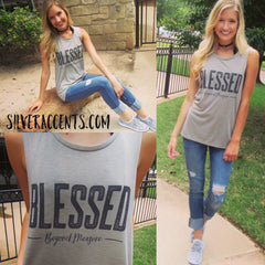 BLESSED BEYOND MEASURE SuperSoft CrewNeck Graphic Tank Top