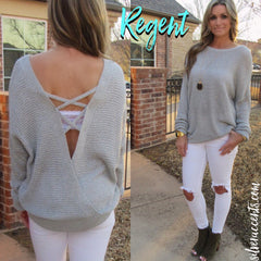 REGENT CrossOver StrappyBack Knit Top