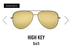 QUAY Australia HIGH KEY Aviator Sunglasses