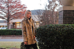 RUNWAY Leopard Faux Fur Jacket Coat Top