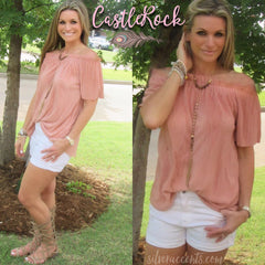 CASTLEROCK Pleated Satin OffShoulder Top