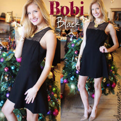 BOBI BLACK LaceBust LATE NIGHT LOVE Fit & Flare Dress