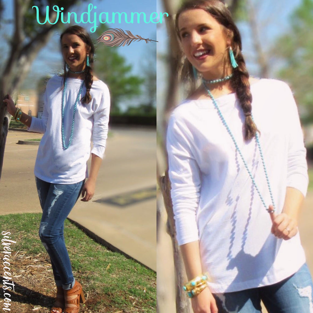 WINDJAMMER Boatneck Knit Jersey Top