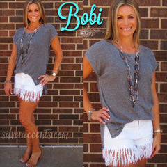 BOBI Burnout RibKnit TEMPLETON HiLo Top