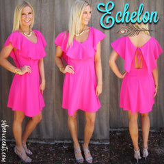 ECHELON Ruffled TieBack Woven Dress
