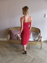 Brick Red ME BEFORE YOU Cutout Midi Dress