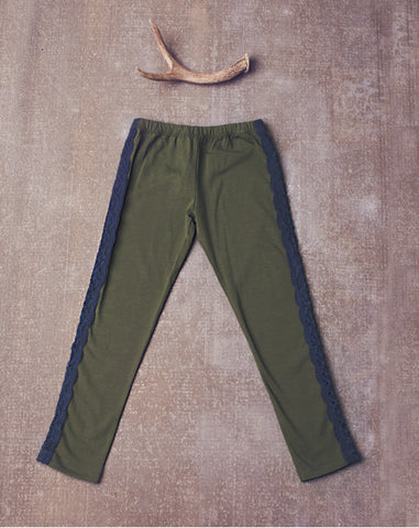 JAK & PEPPAR Olive/Navy EVE Leggings