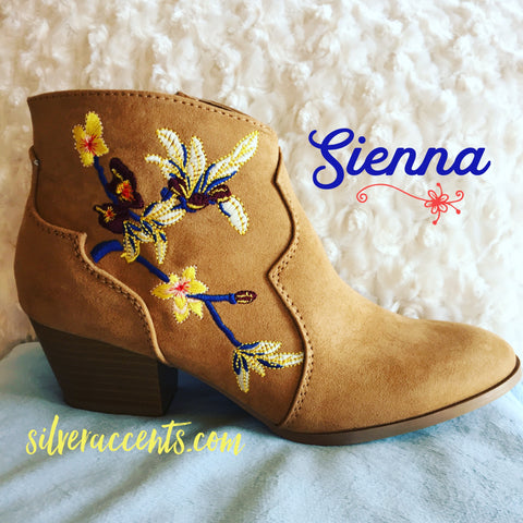 SIENNA Embroidered Bootie Shoe