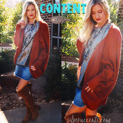 CONTENT DolmanSleeve Drapy Knit Cardigan Top