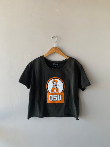 GAMEDAY COUTURE Logo Cropped Tee Top