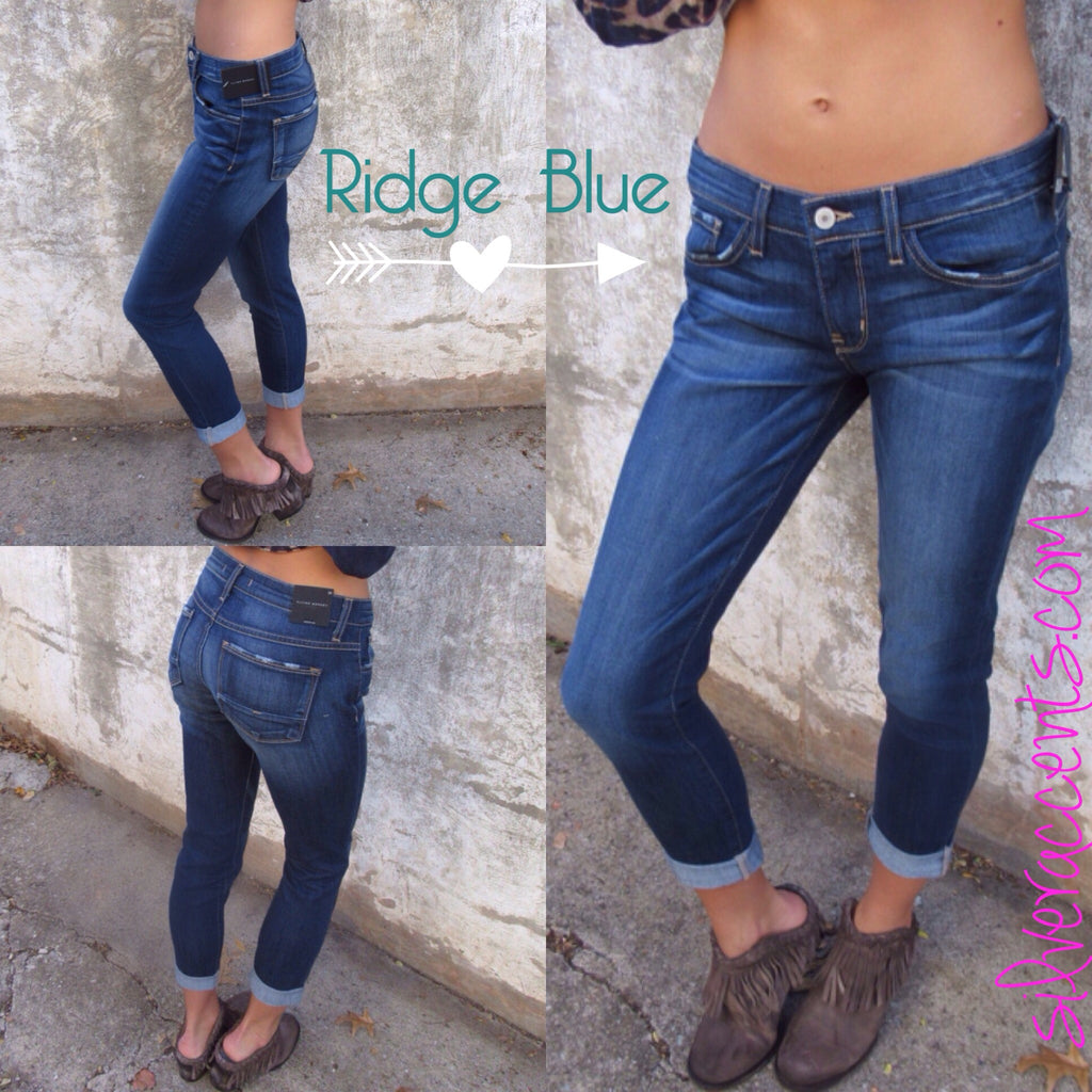 FLYING MONKEY 5pkt RIDGE BLUE Boyfriend Jeans