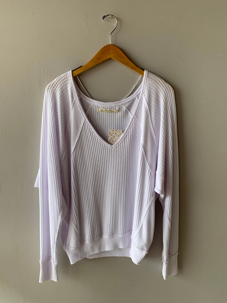 FREE PEOPLE Santa Clara V-Neck Thermal Top