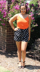 CONFETTI Polka Dot Hi Waist Fold Over Shorts