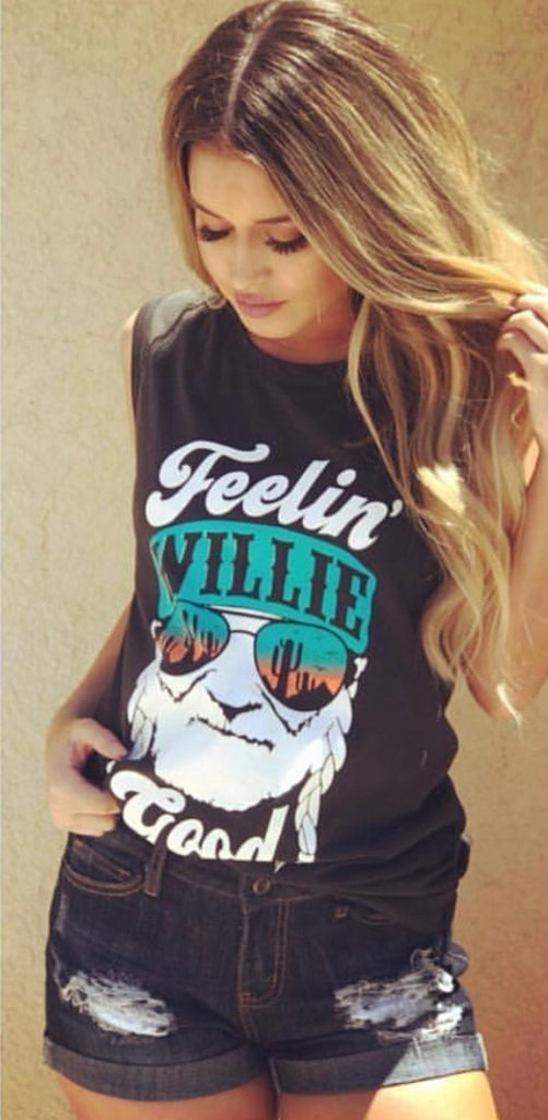 FEELIN WILLIE GOOD Graphic Print Tank Top