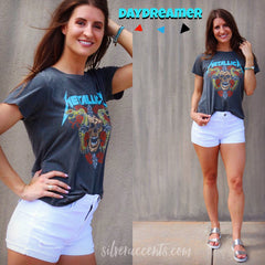 DAYDREAMER Graphic METALLICA SKULL & ROSES Top