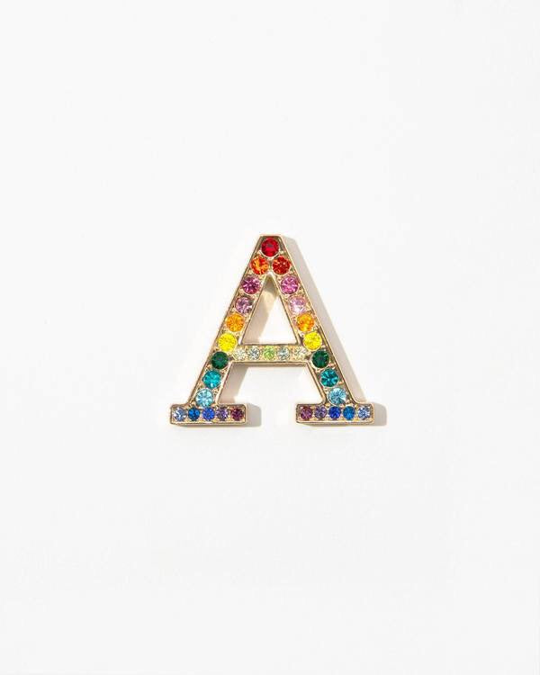 SONIX Rainbow Crystal Embellished Metal Alphabet Sticker