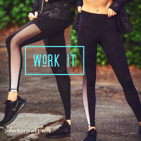 WORK IT HighWaist Hombre Mesh Legging