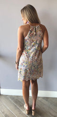 DAYLIGHT Eyelet Floral ScallopHem Shift Woven Dress
