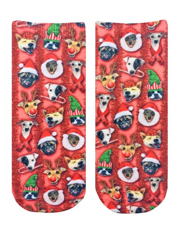 LIVING ROYAL Supersoft CHRISTMAS DOGS Ankle Socks