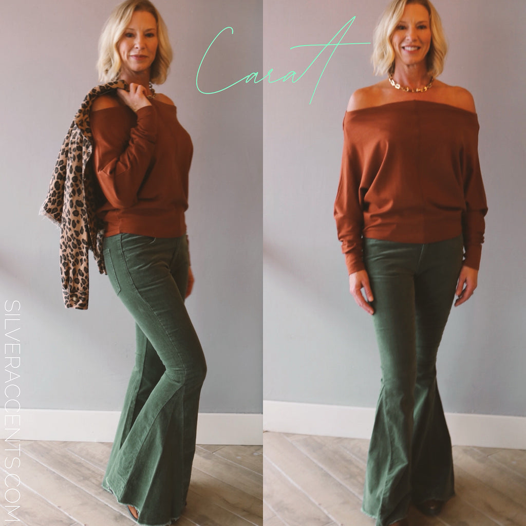 INTRIGUE Corduroy Flare Pant