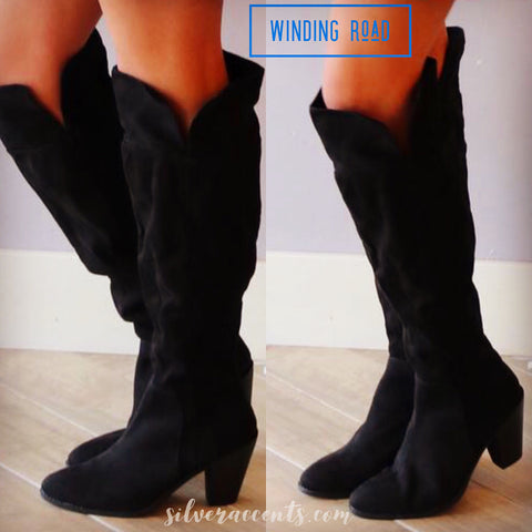 WINDING ROAD Over The Knee SplitSide Boots